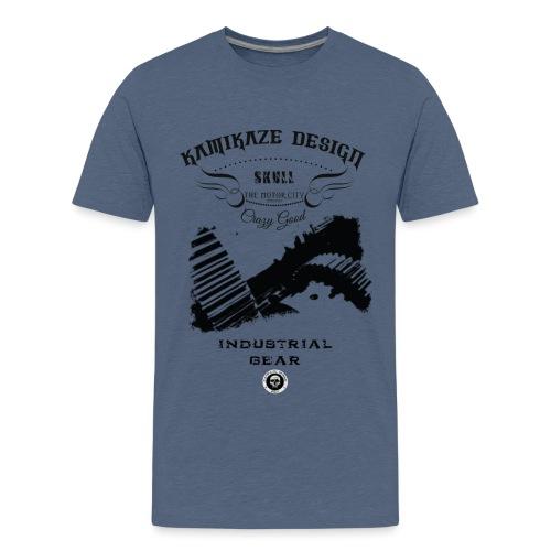 Skull industrial gear - Teenage Premium T-Shirt