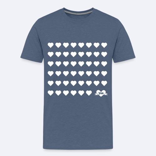 design coeurs - T-shirt Premium Ado