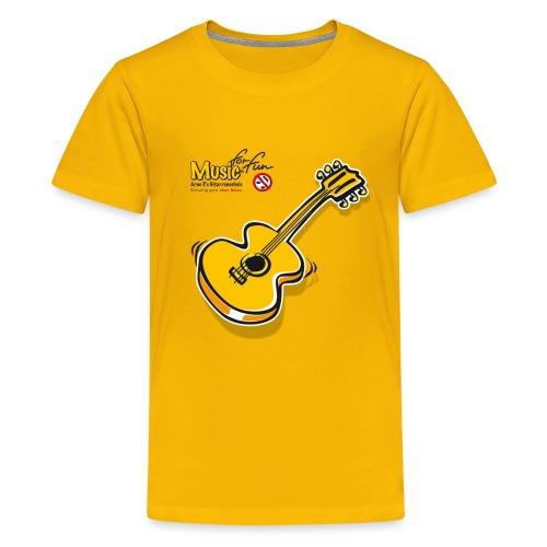 MusicForFun - heller Hintergrund - Teenager Premium T-Shirt