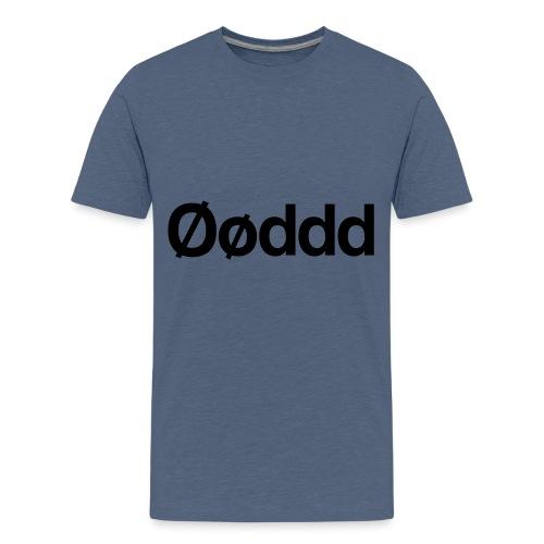 Øøddd (sort skrift) - Teenager premium T-shirt