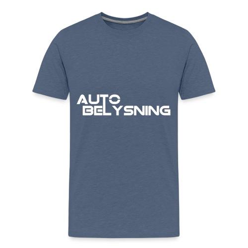 logo hvit - Premium T-skjorte for tenåringer