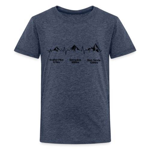 ECG Thee Peaks Light Background - Teenage Premium T-Shirt