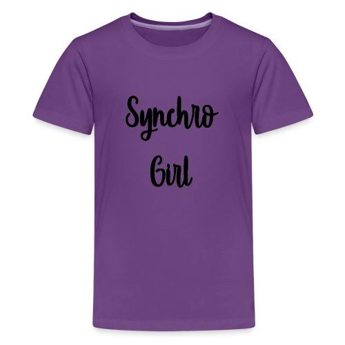 Synchro Girl - Teinien premium t-paita