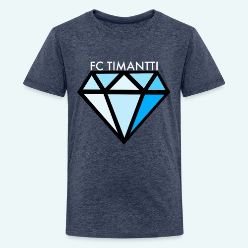 FCTimantti logo valkteksti futura - Teinien premium t-paita