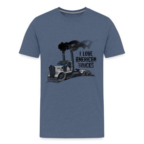 0789 American truck ROUGH smoke - Teenager Premium T-shirt