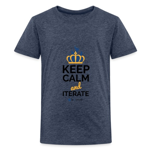 agiLE Leipzig | keep calm & iterate - Teenager Premium T-Shirt