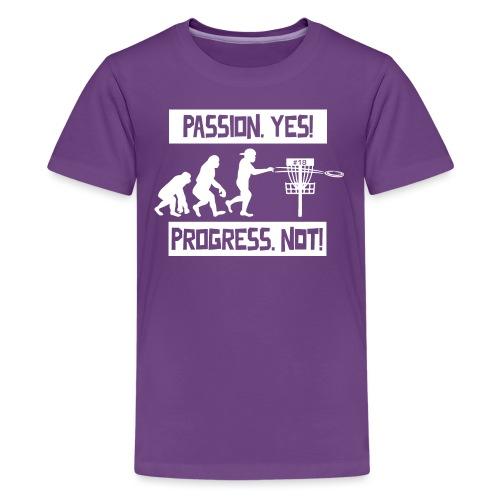 Disc golf - Passion, progress - White - Teinien premium t-paita