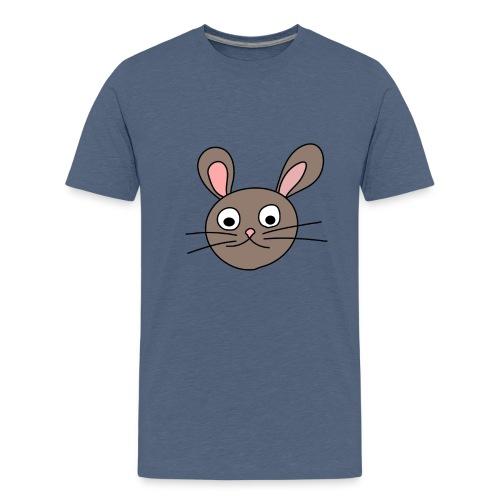 bunny face grey - T-shirt Premium Ado