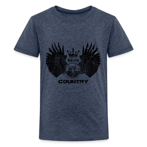 IH King of the country (black design) - Teenager Premium T-shirt