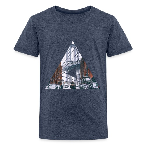 Manhattan Bridge of Brooklyn New York City - Teenager Premium T-Shirt