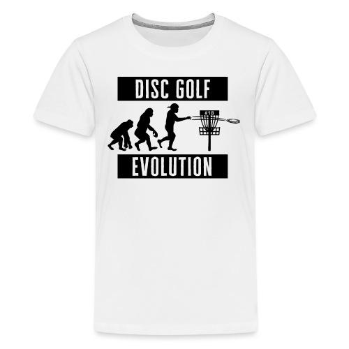 Disc golf - Evolution - Black - Teinien premium t-paita