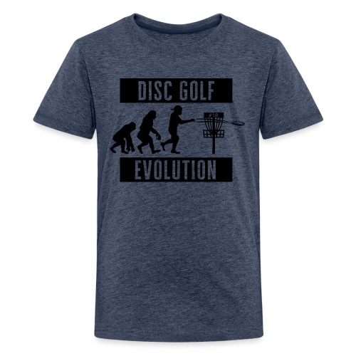 Disc golf - Evolution - Black - Teinien premium t-paita