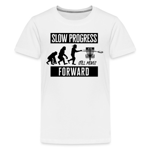 Disc golf - Slow progress - Black - Teinien premium t-paita