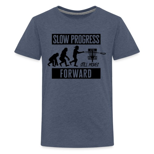 Disc golf - Slow progress - Black - Teinien premium t-paita