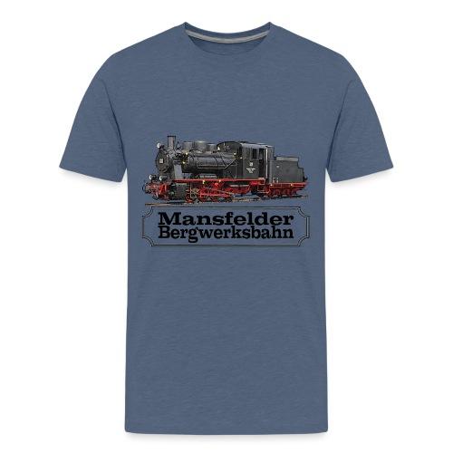 mansfelder bergwerksbahn dampflok 1 - Teenager Premium T-Shirt