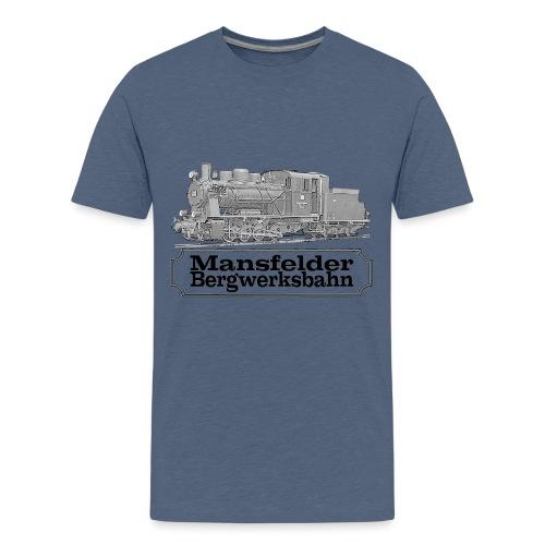 mansfelder bergwerksbahn dampflok 2 - Teenager Premium T-Shirt