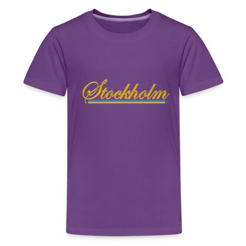 Stockholm - Premium-T-shirt tonåring
