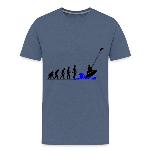 Die Evolution zum Kitesurfer - Teenager Premium T-Shirt