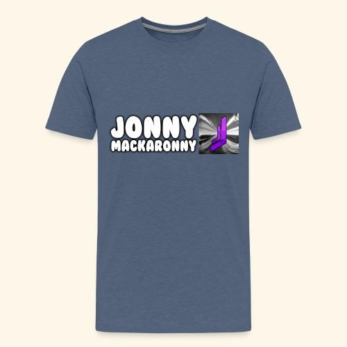 JonnyMackaronny Tekst med Logo - Premium T-skjorte for tenåringer