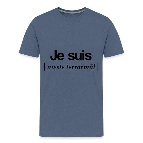 Je suis (sort skrift) - Teenager premium T-shirt