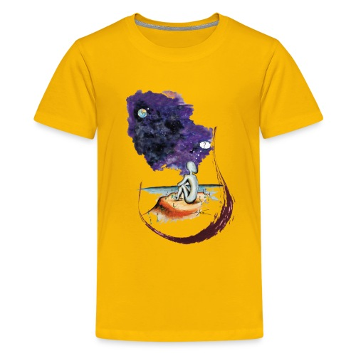 Extraterrestre en contemplation - T-shirt Premium Ado