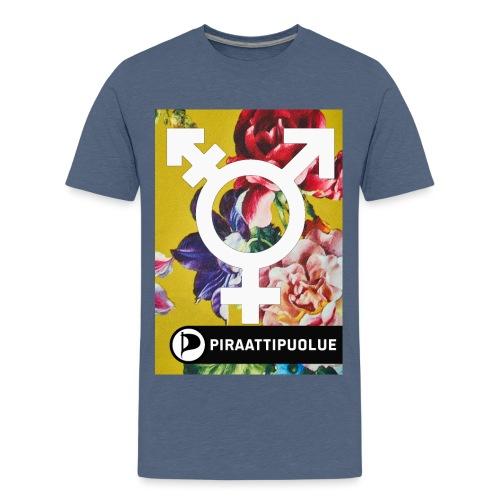 Antaa kaikkien kukkien kukkia - Teinien premium t-paita