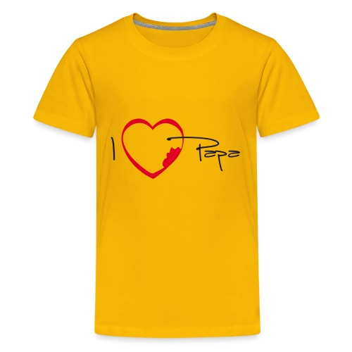 I love papa - T-shirt Premium Ado