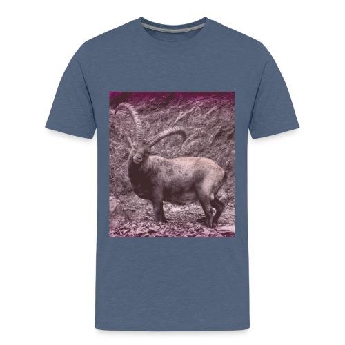 Walser Steinbock im Sommer Retro - Teenager Premium T-Shirt
