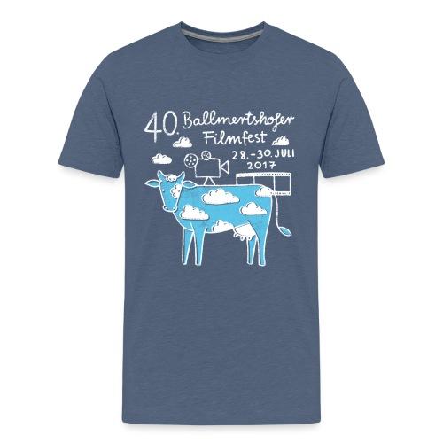 170415 B Filmfest Kuh weisse Schrift png - Teenager Premium T-Shirt