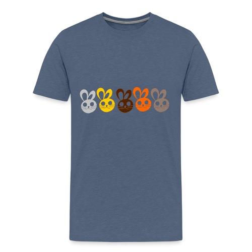 Bunny faces - T-shirt Premium Ado
