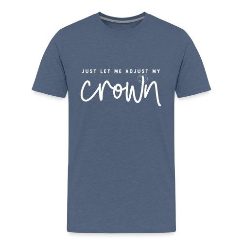 Crown white - Teenage Premium T-Shirt