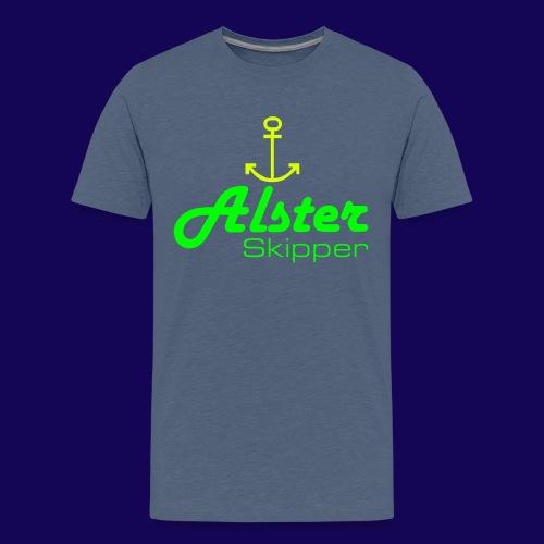 Hamburg maritim: Alster Skipper mit Anker - Teenager Premium T-Shirt