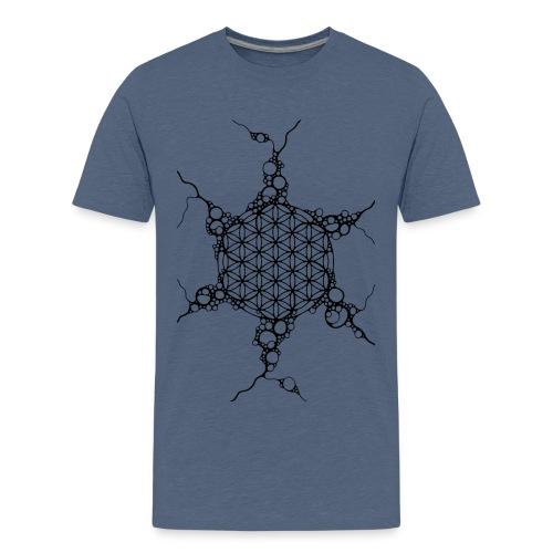 Flower Of Life Neuro Art 1 - Teenager Premium T-Shirt