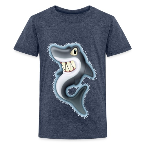 Cartoon Shark - Teenage Premium T-Shirt