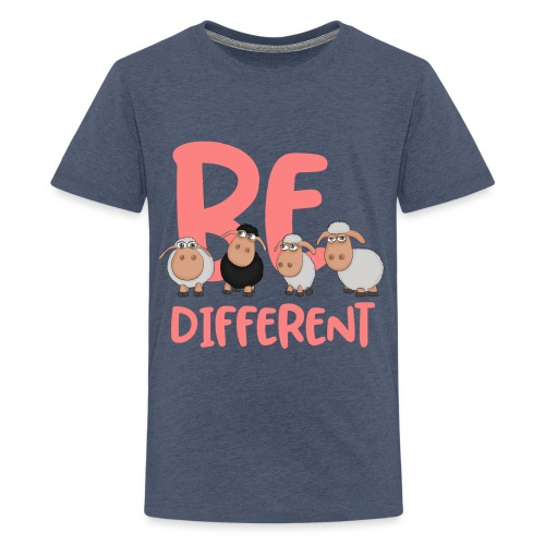 Be different pink sheep - Unique sheep - Teenage Premium T-Shirt