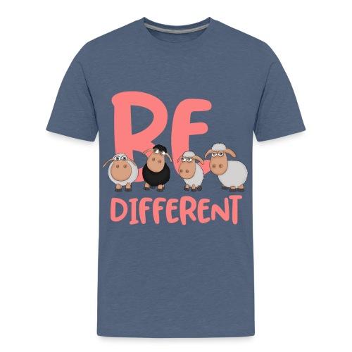 Be different pinke Schafe - Einzigartige Schafe - Teenager Premium T-Shirt