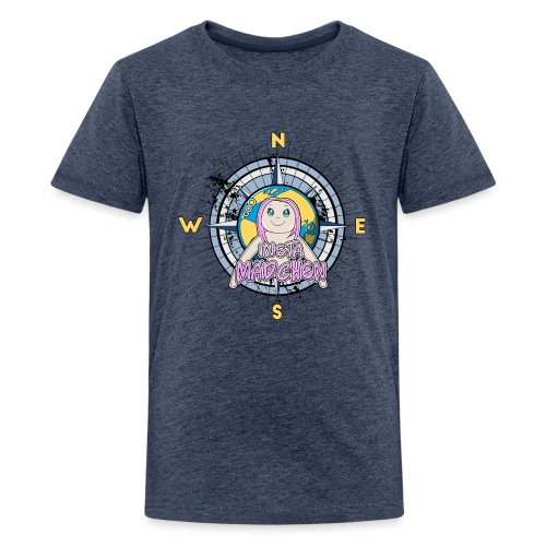 InstaMädchen Kompass - Teenager Premium T-Shirt