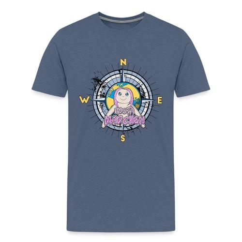 InstaMädchen Kompass - Teenage Premium T-Shirt