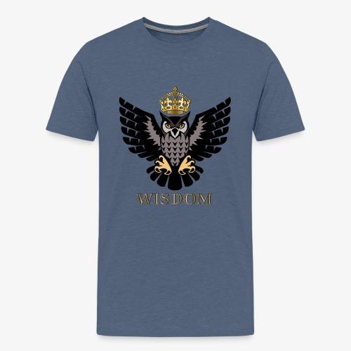 Royal Wisdom — La Chouette à Couronne - T-shirt Premium Ado