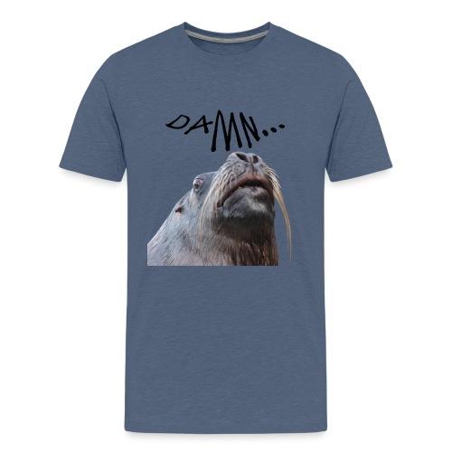 tier seelöwe robbe einhorn verdammt spass trend - Teenager Premium T-Shirt