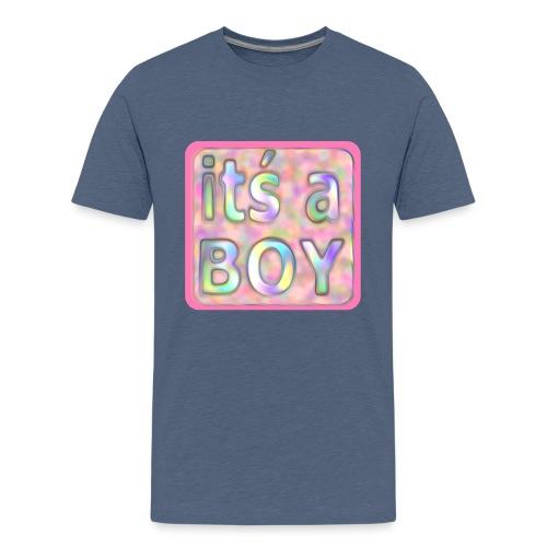 its a boy rosa text skylt - Teenage Premium T-Shirt