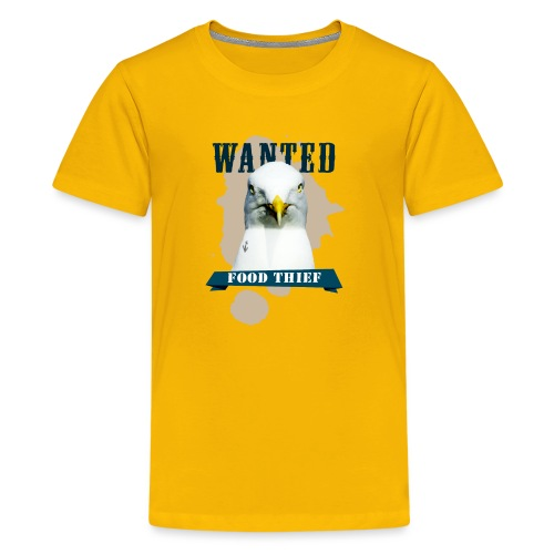 WANTED - FOOD THIEF - Teenager Premium T-Shirt