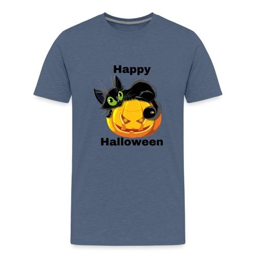 Happy Halloween cat - Teenage Premium T-Shirt