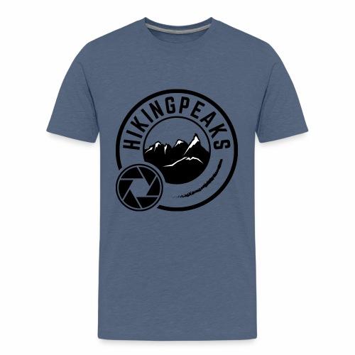 HIKINGPEAKS nero - Maglietta Premium per ragazzi