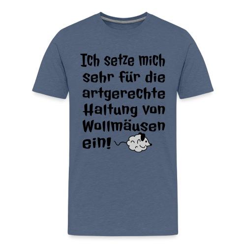 Wollmaus Staub Putzen Haushalt Wohnung Spruch - Teenager Premium T-Shirt