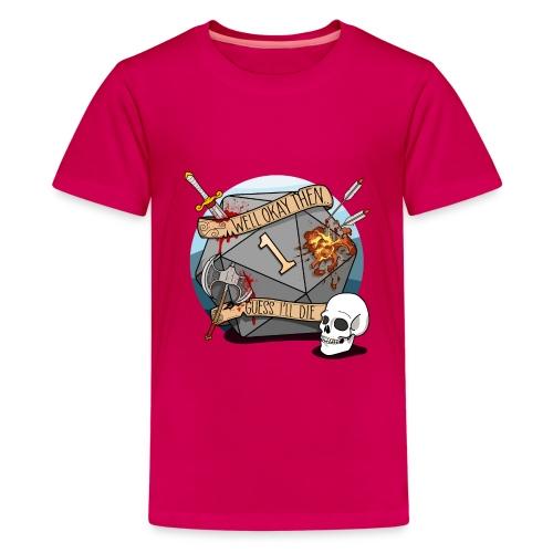 Arvelen kuolen - DND D & D Dungeons and Dragons - Teinien premium t-paita