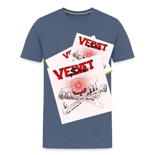 Skull novaredwhitesmall jpg - Teenager Premium T-Shirt