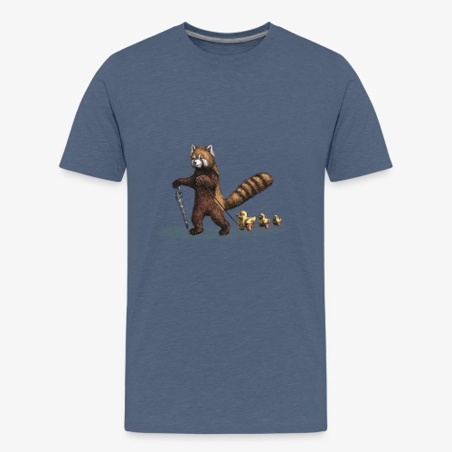 Red Panda with Ducks - Teenage Premium T-Shirt