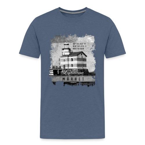 Märket majakkatuotteet, Finland Lighthouse, Harmaa - Teinien premium t-paita