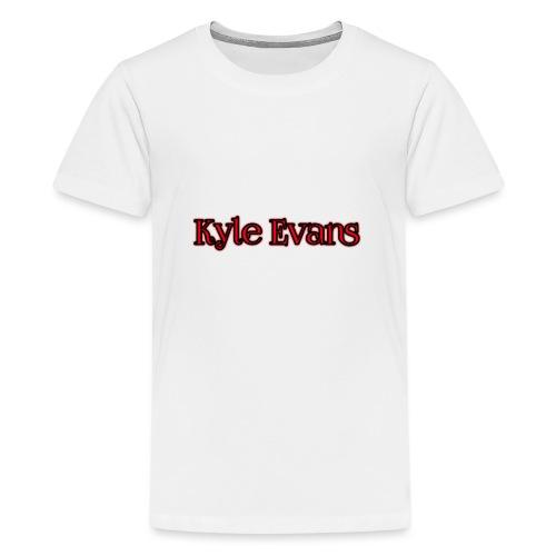 KYLE EVANS TEXT T-SHIRT - Teenage Premium T-Shirt